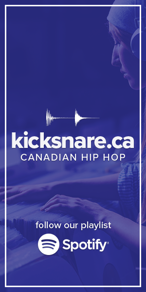 kicksnare.ca Spotify playlist banner for sidebar